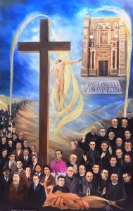 lienzo conmemorativo del Martirio del Beato Lisardo Carretero Fuentes y 114 mártires más