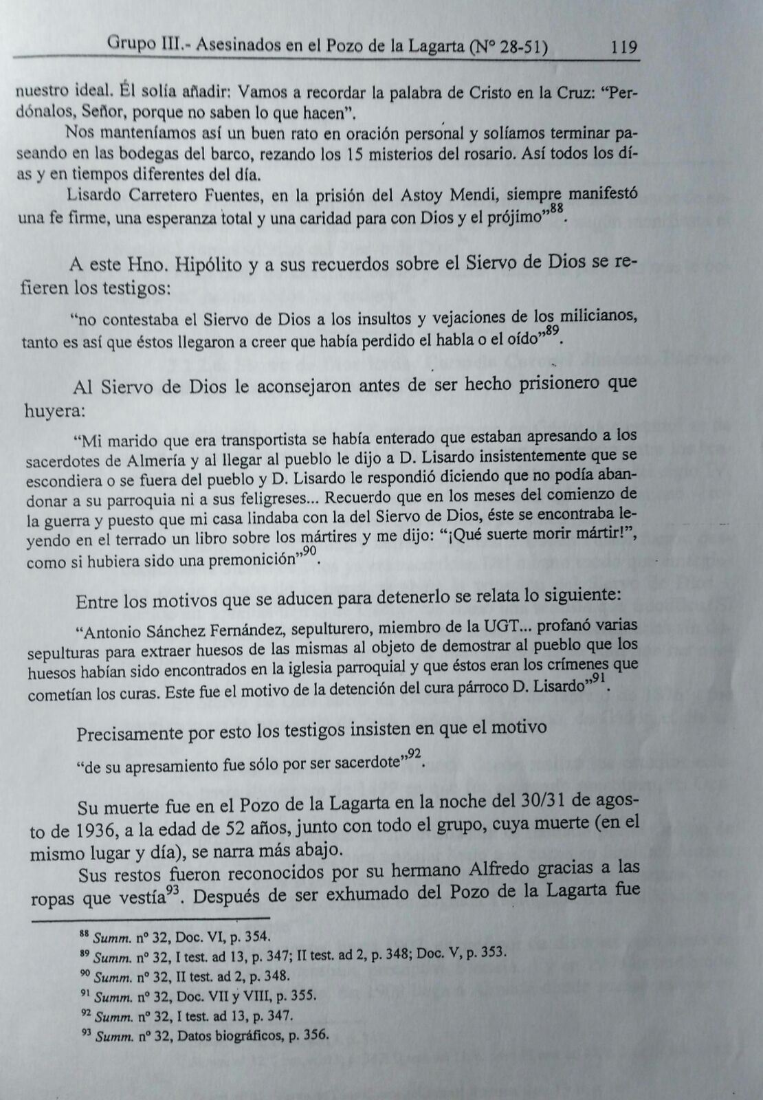 expediente de beatificacion de lisardo carretero