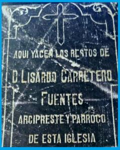 lápida tumba beato Lisardo Carretero Fuentes