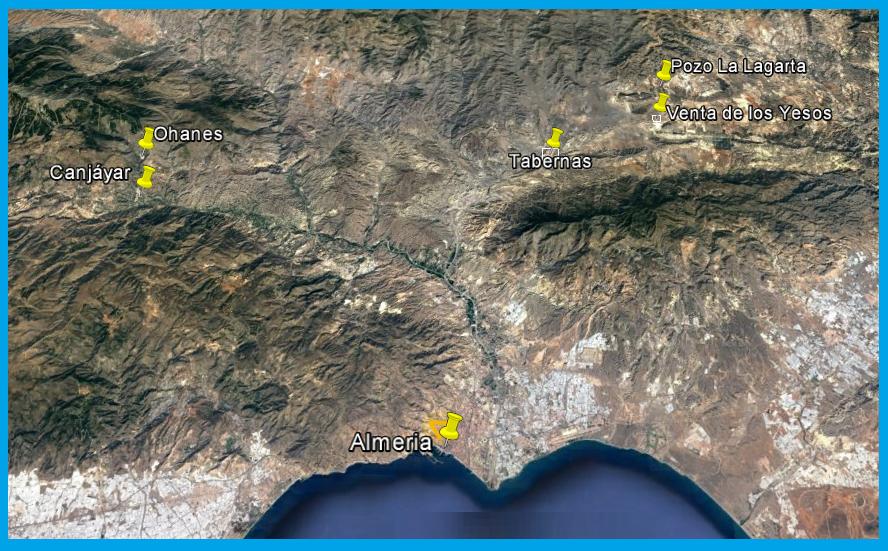 Mapa de los lugares relevantes en la historia del martirio de Lisardo Carretero